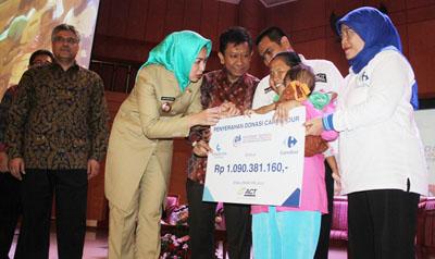 Walikota Tangsel Menyerahkan Donasi