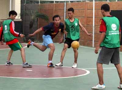 Atlet Futsal Pondok Pesantren Multimedia Almuqriyah