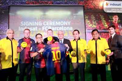 Kerja Sama Indosat dan Barcelona FC