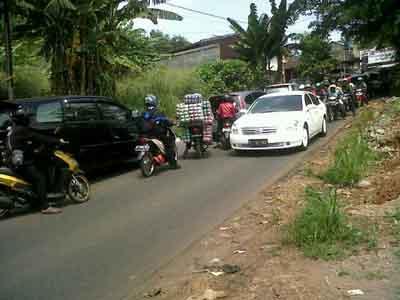 Kemacetan di Kota Tangsel