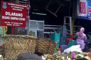 Ilustrasi Sampah Pasar