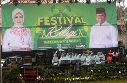 Salah satu grup Festival Religi 2014 saat tampil.(one)