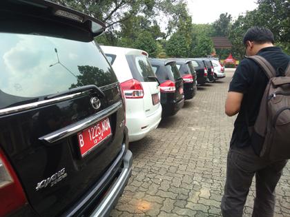 Mobil dinas DPRD Tangsel yang sudah dikembalikan.(one)