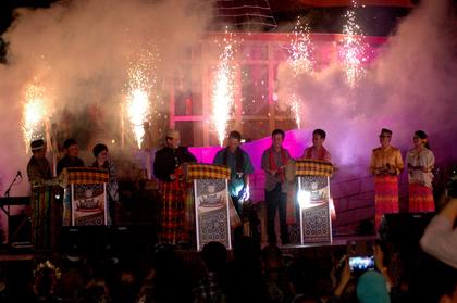 Pembukaan Festival Kuliner di SMS.(bud)