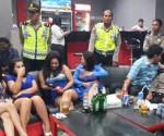 Wanita malam saat diamankan di Ciputat.(one)