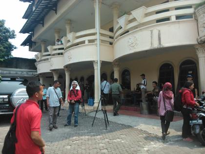 Suasana BLK di Cirendeu yang digerebek.(one)