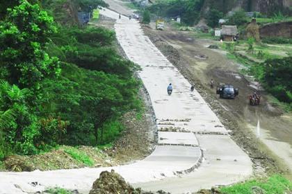 Proyek pembangunan JLS Kota Cilegon.(bbs)
