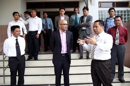 Dubes Singapura saat berkunjung ke Kota Tangerang.(hms)