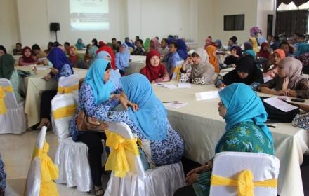 Peserta pelatihan sejumlah 150 orang datang dari 10 SMP di 5 rayon Kabupaten Serang.(rls)