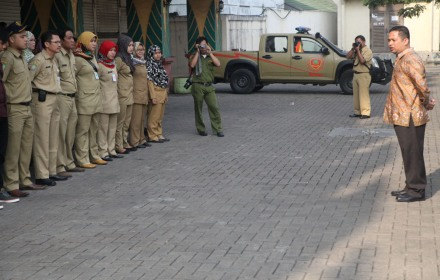 Walikota Tangerang pimpin apel operasi narkoba.(hms)