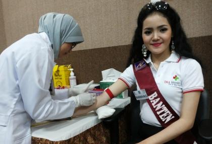 Nawang Wulan, Finalis Putri Pariwisata Indonesia 2014.(man)