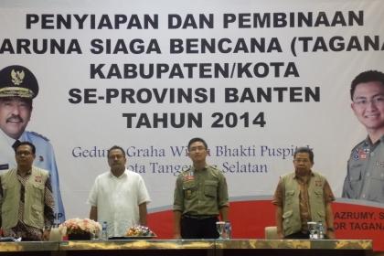Kegiatan Tagana Banten di Puspiptek, Tangsel.(one)