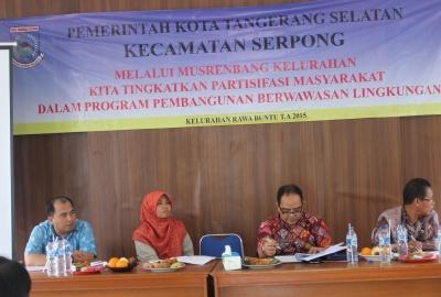 Kegiatan Musrenbang di Kelurahan Rawa Buntu.(one)
