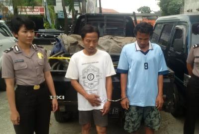Pegawai Telkom gadungan diamankan polisi.(one)