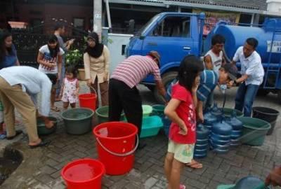 Pasokan air bersih di Ciledug.(ggl)