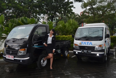 Varian Tata Ace Ex2 dipamerkan di Hotel Grand Zuri.(man)