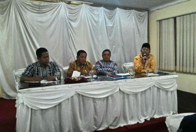 Anggota DPRD Kabupaten Serang saat pertemuan dengan USAID.(hms)
