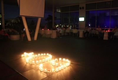 Suasana Earth Hour di Novotel Tangerang.(man)