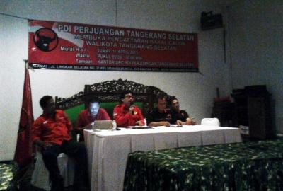 Tim penjaringan saat konferensi pers di Serpong.(one)