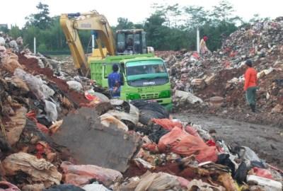 TPA sampah Cipeucang di Serpong.(one)