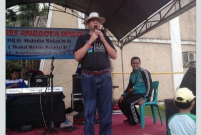 Wahidin Halim saat memberi sambutan pada kegiatan di Pinang.(nai)