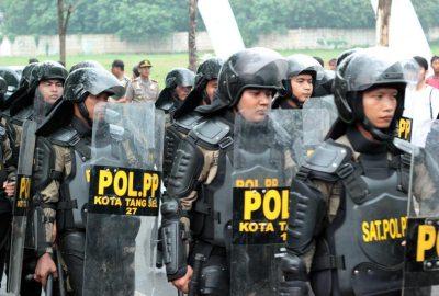 Personel Satpol PP Kota Tangsel.(bbs)