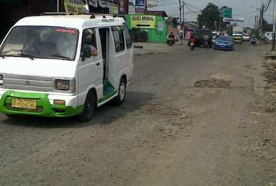 Kondisi ruas Jalan Siliwangi.(ymw)