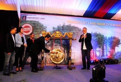 Peresmian ekspansi usaha Paramount Land di Semarang.(hms)