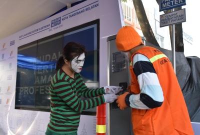 Peluncuran parkir meter di Tangsel.(one)