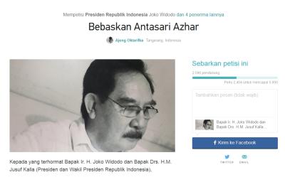 Petisi Ajeng untuk Presiden Joko Widodo.(rep)