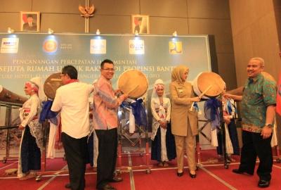 Peluncuran Program Sejuta Rumah di Serpong Utara, Kota Tangsel.(one)