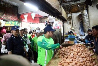 Walikota Tangerang saat Sidak di Pasar Ciledug.(hms)
