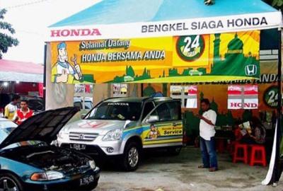 Posko bengkel siaga Honda. (bbs)