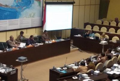 Rapat dengar pendapat Komisi II DPR RI.(hms)