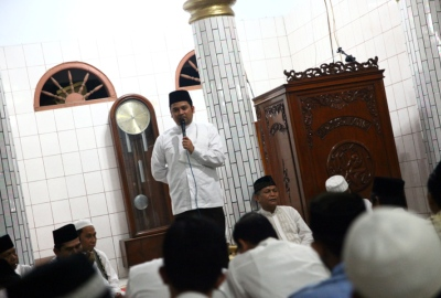 Walikota saat tarling di Masjid Al Hidayah.(hms)