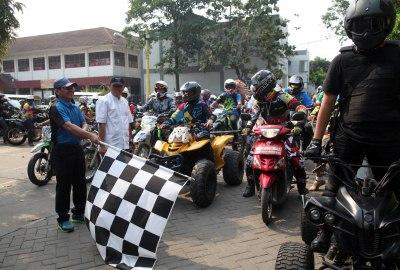 Wakil Walikota melepas konvoi Ramadhan Trail Carnival. (ist)