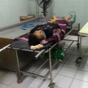 Korban saat di rumah sakit. (ist)