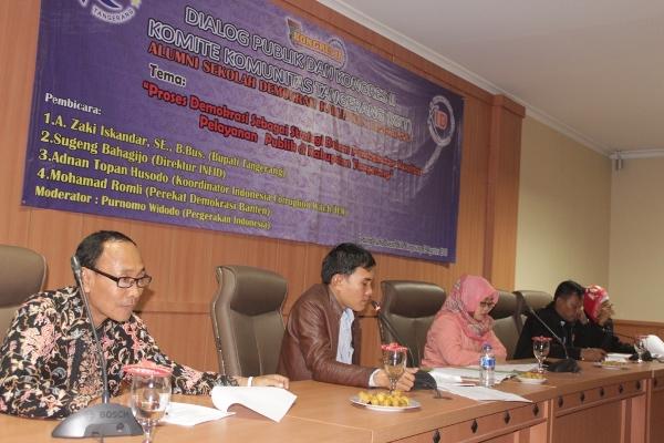 Dialog Publik dan Kongres Komite Komunitas Tangerang di Tigaraksa. (ist)