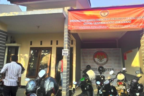 Kantor Panwaskada Kota Tangsel. (hen)