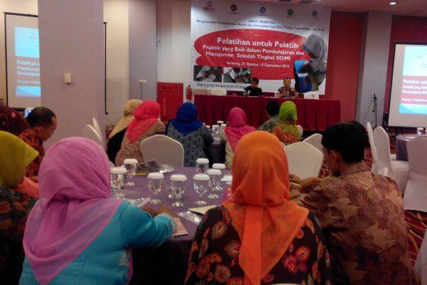 Akhmad Yani CH, Kabid Dikdas Provinsi Banten membuka pelatihan. (ist)