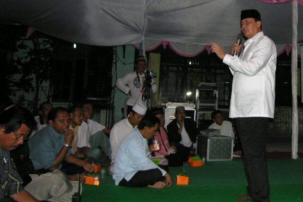 Wahidin Halim saat sosialisasi empat pilar di Kota Tangerang. (ist)