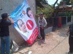 Alat peraga kampanye milik Ikhsan Modjo diturunkan