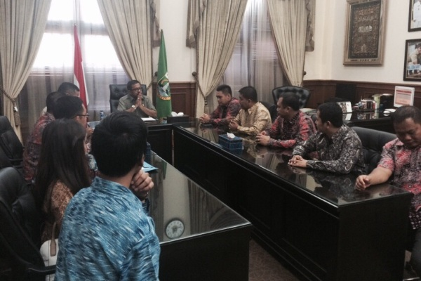 Audiensi HIPMI Banten dengan Gubernur Banten, Rano Karno. (kie)