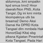 Ini Alasan Tenaga Honorer Mau Demo DPRD Tangsel