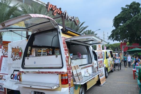 Jejeran food truck di Rame Rame Jajan Kuliner Pasar Karnival Tangcity Mall. (ist)