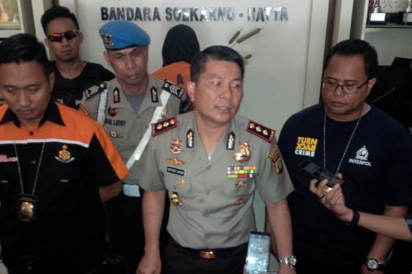 Kapolres Bandara Soekarno Hatta, AKBP Roycke Langie saat gelar perkara. (nai)