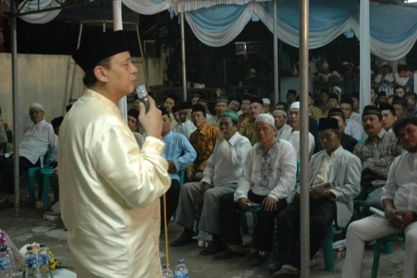 Anggota MPR/DPR RI Wahidin Halim sosialisasi 4 pilar di Larangan, Kota Tangerang. (ist)