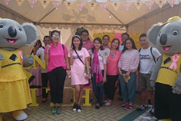 Commonwealth Life partisipasi dalam Jakarta Goes Pink. (fit)