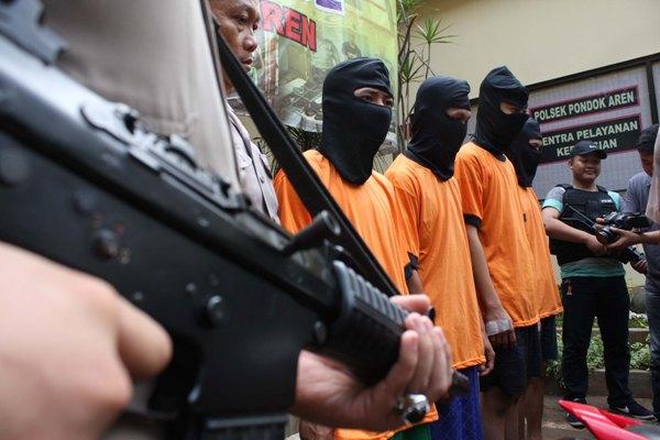 Gelar perkara kasus pencurian di Mapolsek Pondok Aren. (one)