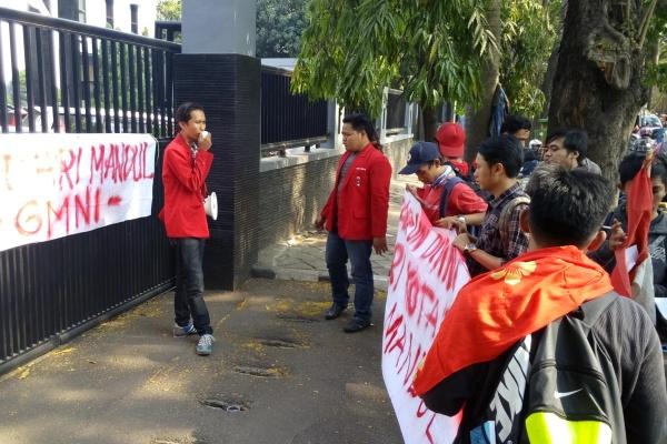 GMNI demo di kantor Kejari Tangerang. (nai)